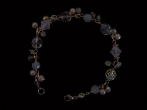 Sterling Silver with Pearls and Crystals Bride Bracelet