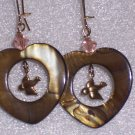 Brown Hearts of Love Earrings