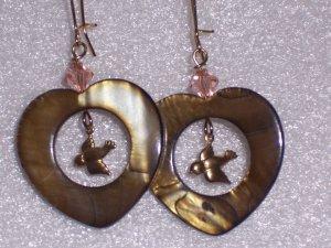 Brown Hearts of Love Earrings