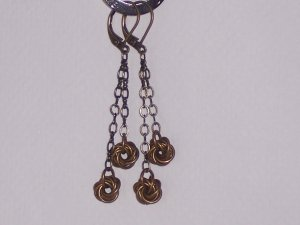 Mobius Flower Chainmaille Earrings FREE shipping to the USA or Canada