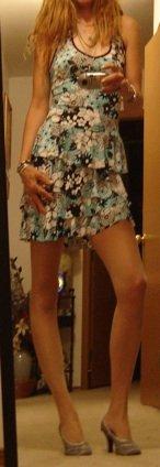B. Darlin Floral Halter Sundress Dress; FLIRTY Skirt !! Sz. 3/4;  Lk. New/MUST SEE!!