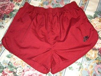 Vintage NIKE Cotton/Poly Gym SHORT Shorts! Men's L; EXC!