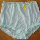 Olga SILKY SOFT Seafoam Green Panties w/Stretch Lace Waistband, Sz. 7 L; NWT!