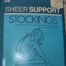 Vintage Sheer Support Stockings Rare/HTF Size 5 (11, 11 1/2, 12 EXTRA TALL!)
