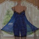 Vintage Lucie Ann Babydoll Nightgown Full Sweep/Sheer Chiffon! Sz. S/Petite