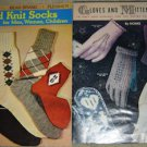 Vintage Knitting/Crochet Books: Hand Knit Socks & Gloves and Mittens