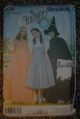 Simplicity 4136 Wizard of Oz (Dorothy, Witch Costume) Sewing Pattern! HH 6-12