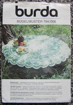Vintage Burda Bugelmuster Fruit Embroidery Transfer Pattern 794/006