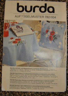 Vintage Burda Aufrugelmuster Floral Embroidery Transfer Pattern 782/004
