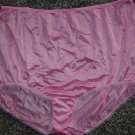 Vintage Penney's Adonna SILKY NYLON Sissy Pink Panties! USA Made Sz. 46/XXL