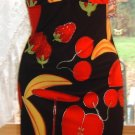 Vega's Paris Dress, Clingy/Bodyform Sexy Dress, Fruit Motif, Sz. S; NWT!