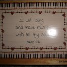 "Heidi Satterberg ""I Will Sing and Make Music With My Soul"" Rubber Stamp"