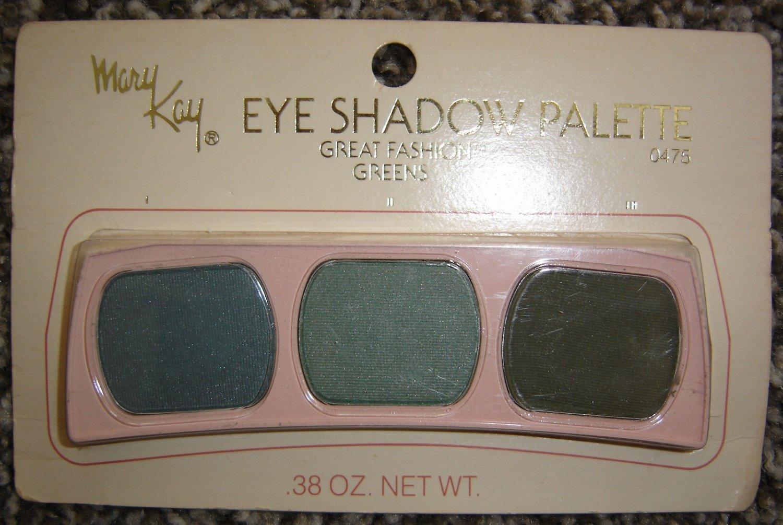 Vintage Mary Kay Eye Shadow Palette #0475, Great Fashion Greens