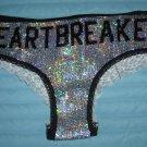"""Victoria's Secret Pink SPARKLING SEQUINS """"Heartbreaker"""" Panties Size M"""