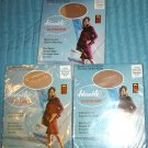 "Vintage Hosiery: Seamless ""Adorable"" Stockings Lot (3 Prs.) HTF Extra-Tall! Sz. 11 1/2-12"