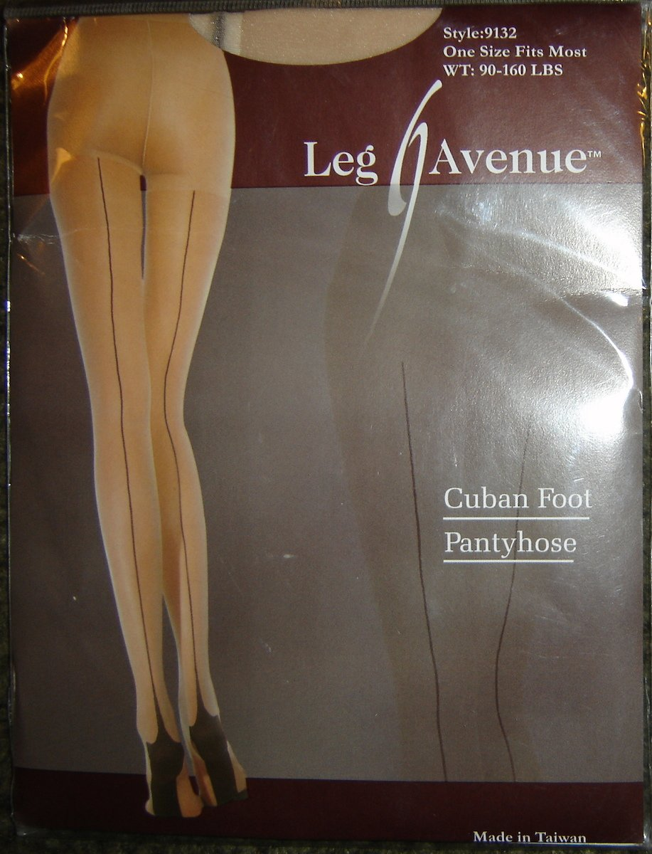 Leg Avenue Cuban Foot Pantyhose w/SEAMS! OSFM; New!