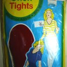 Vintage Ladies Orlon Tights, Red Ribbed, Size S; NIP!