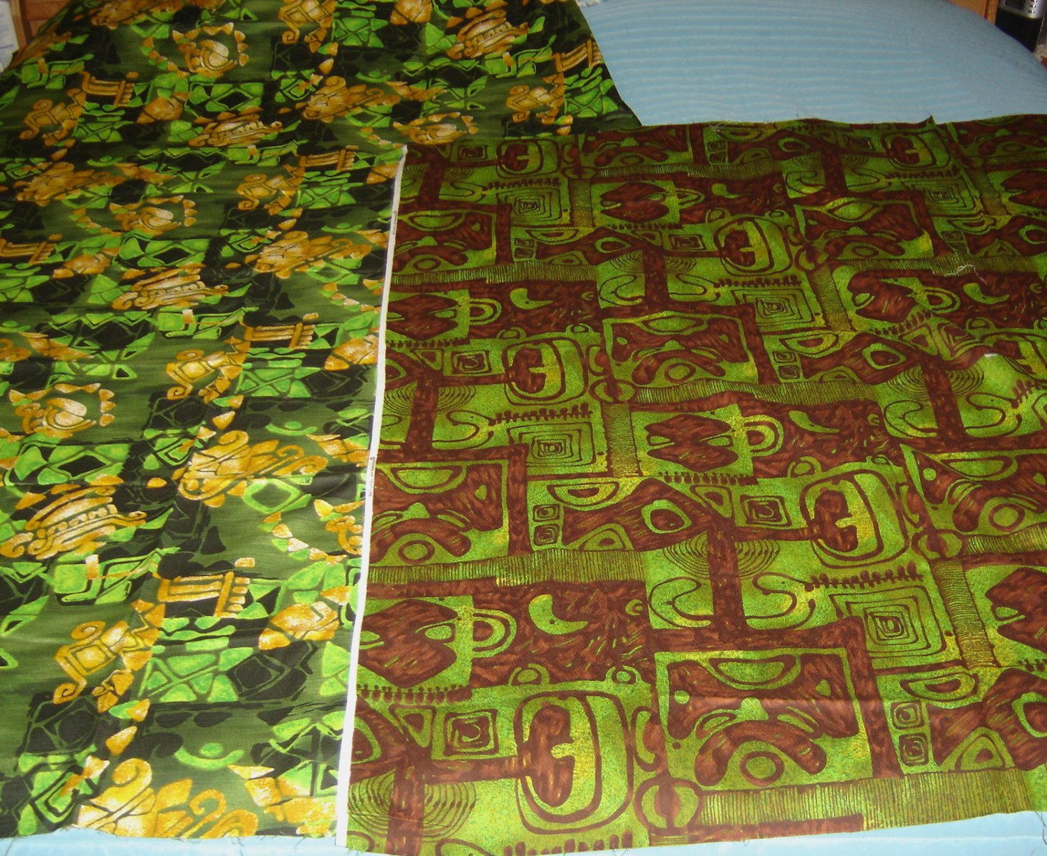 Vintage Hawaiian Barkcloth Fabric Lot (Polynesian Textiles/Unmarked); Beautiful!