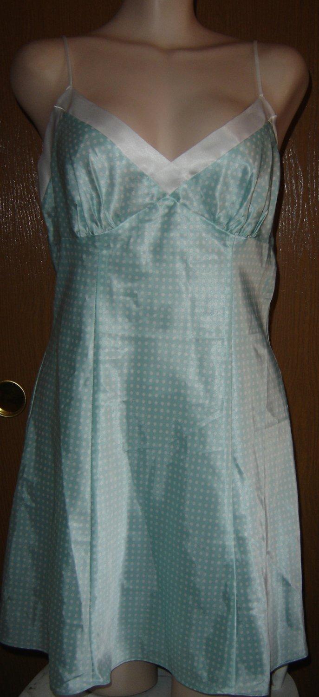 Victoria's Secret SILKY SATIN Babydoll Nightgown w/Polka Dots!  Sz. M; NWOT