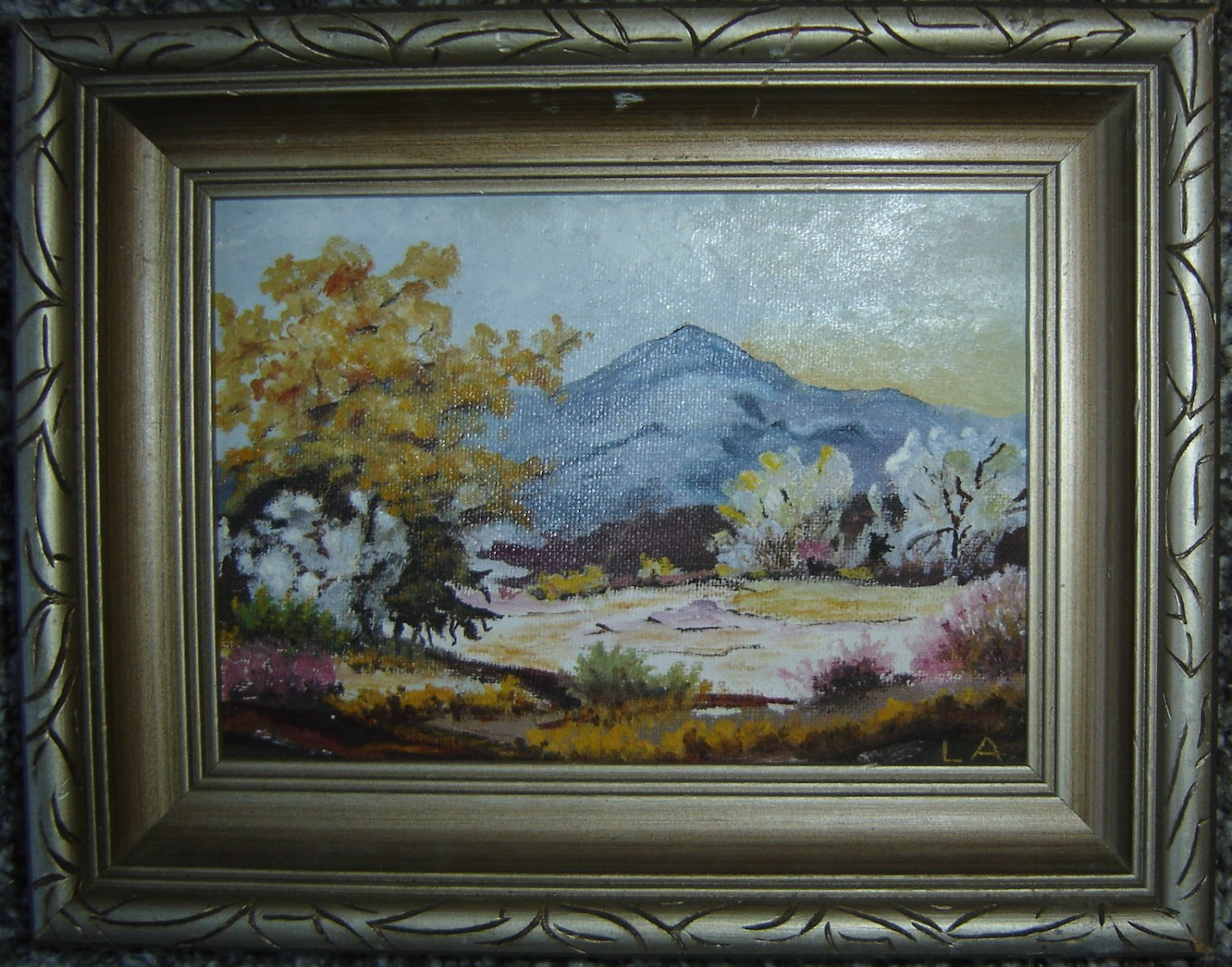 """Vintage Mt. Rainier Oil Painting by Lulu Armstrong; Small (7"""" x 5"""")"""