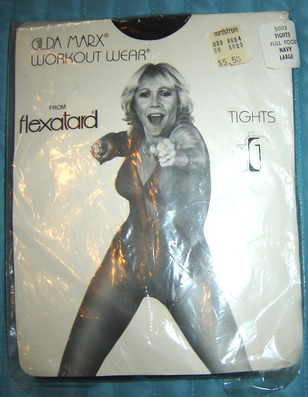 Vintage Gilda Marx from Flexatard Tights, Navy, Sz. Large; NEW!