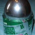Vintage L'eggs in Silver Egg Sheer Energy Pantyhose, Suntan, Size B