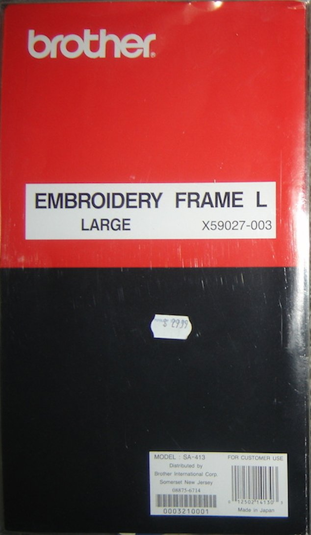 Brother Embroidery Frame L, Large X59027-003; Model SA-413
