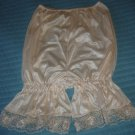 Vintage Style Bubble Panties Pettipants, Silky Ivory w/Lace! M/L