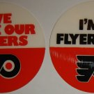 "Vintage NHL Philadelphia Flyers ""I'm A Flyers Fan"" and ""We Love Our Flyers"" Stickers"
