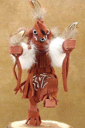 Mudhead Kachina Doll Navajo Made Artist Signed.
