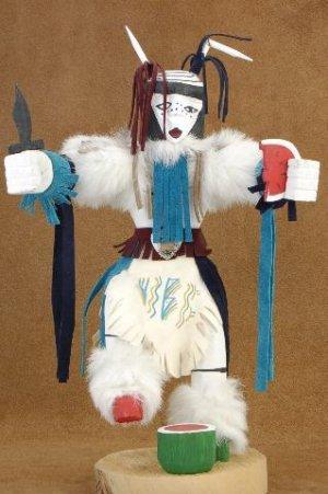 Native American Clown Kachina Doll