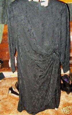 !00% silk black dress by Argenti