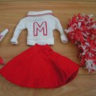 Vintage Barbie Outfit #876 - Cheerleader