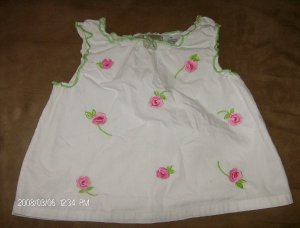 BELUGA NEW YORK GIRL'S EMBROIDERED TOP SIZE 6