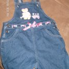 GIRL'S DENIM OVERALL SHORTS SIZE 5T