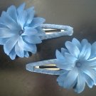 Angela's Accessories Blue Flower Clips