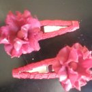 Angela's Accessories small red rose clips