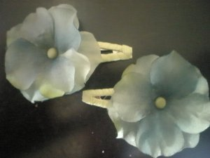 Angela's Accessories Pastel Blue Clips