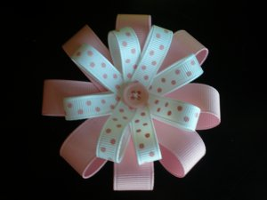 Angela's Accessories Pink Flower Bow