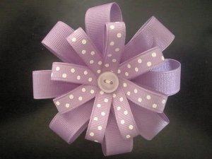 Angela's Accessories Purple Flower Bow