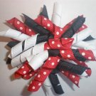 Angela's Accessories Red/White/Black Korker Bow