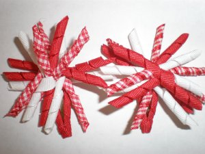 Angela's Accessories Mini Red Korker Bows