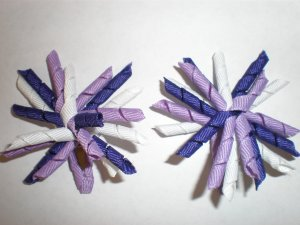 Angela's Accessories Mini Purple Korker Bows