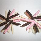 Angela's Accessories Mini Pink/Brown/Cream Korker Bows