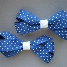 Angela's Accessories Royal Blue Polka dot Classic Bows