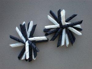 Angela's Accessories Mini Navy Blue Korker Bows
