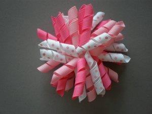 Angela's Accessories Big Pink Korker Bow