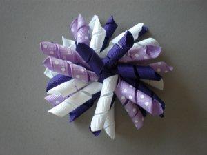 Angela's Accessories Big Purple Korker Bow