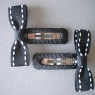 Angela's Accessories Black Saddle-stitch Clips