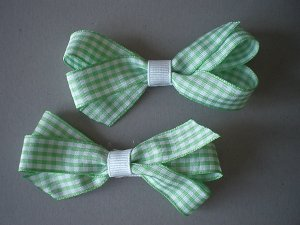 Angela's Accessories Lime Gingham Classic Bows